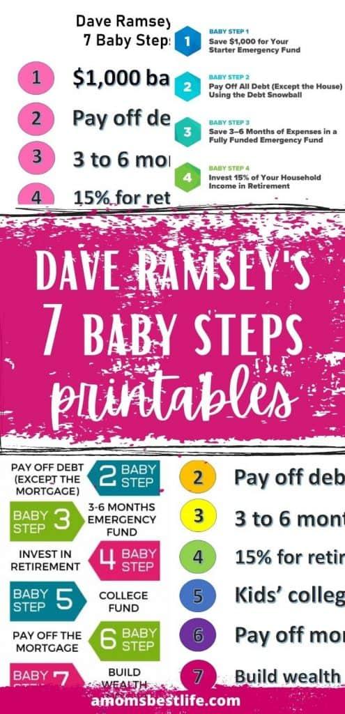 Dave Ramsey Baby Steps PDF (Dave Ramsey Baby Steps printable)
