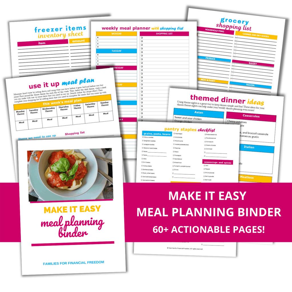 Meal Planning Binder