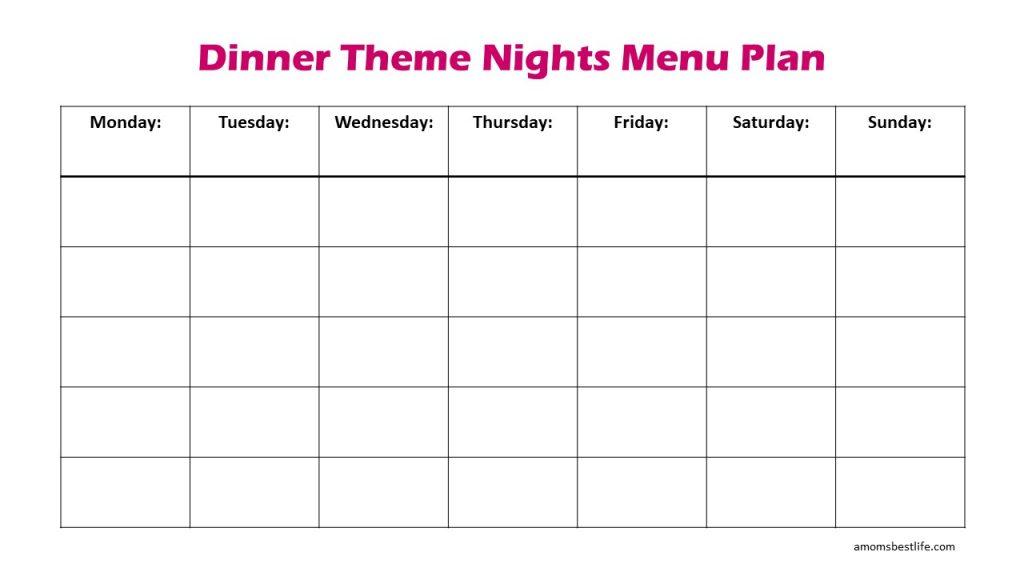 themed dinner night ideas